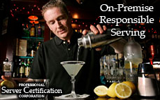 On-Premises Responsible Serving | Bartender License / Server Permit