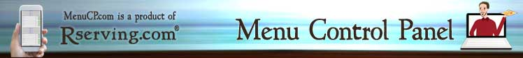 Menu Control Panel - Online Ordering Software
